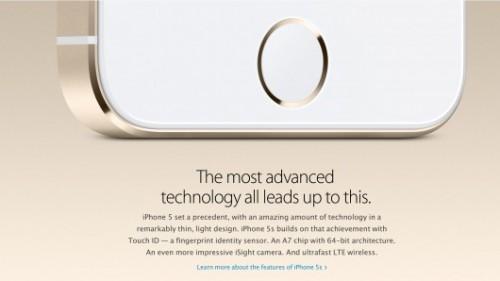 Nút home có cảm biến vân tay Touch ID của iPhone 5s