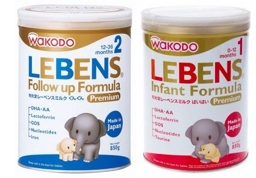 Sữa Wakodo Lebens 1 và 2