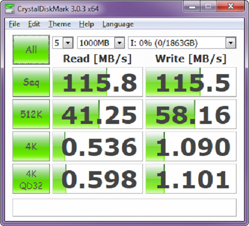 Crystal Disk Mark3.0