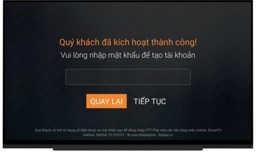 OTP 3- FPT Play Box - nhập mật mã