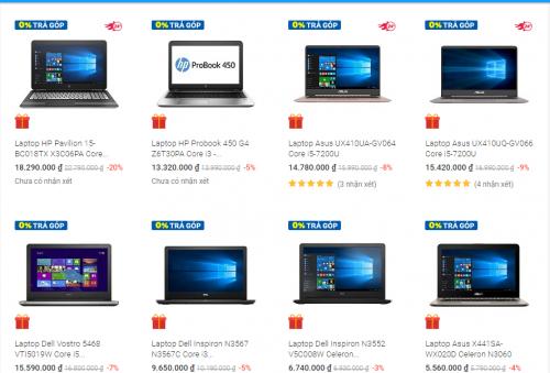 Giá bán laptop tại Tiki.vn thường giảm giá và rẻ hơn rất nhiều
